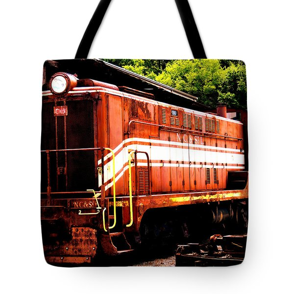 Train Engine Nc Sl  Tote Bag by Mark Moore