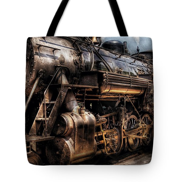 Train - Engine -  Now boarding Tote Bag by Mike Savad