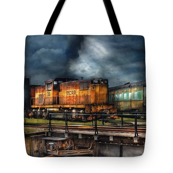 Train - Let's Go For A Spin Tote Bag by Mike Savad
