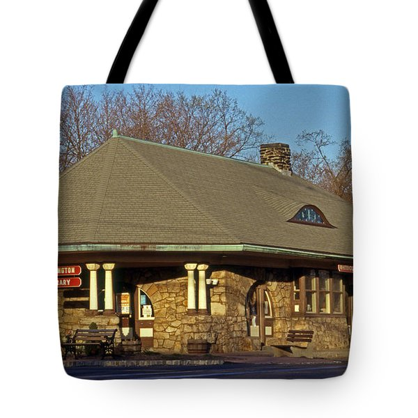 Train Stations And Libraries Tote Bag by Skip Willits