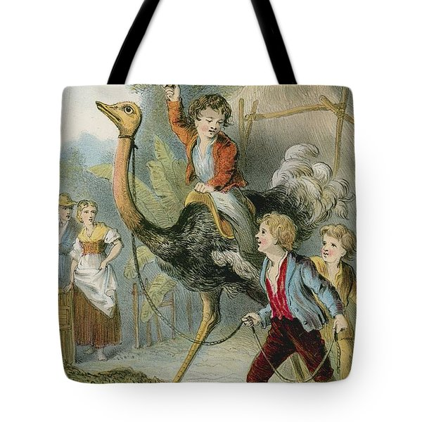 Training The Ostrich Tote Bag by English School