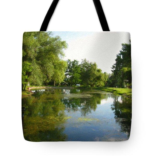 Tranquil - Digital Painting Effect Tote Bag by Rhonda Barrett