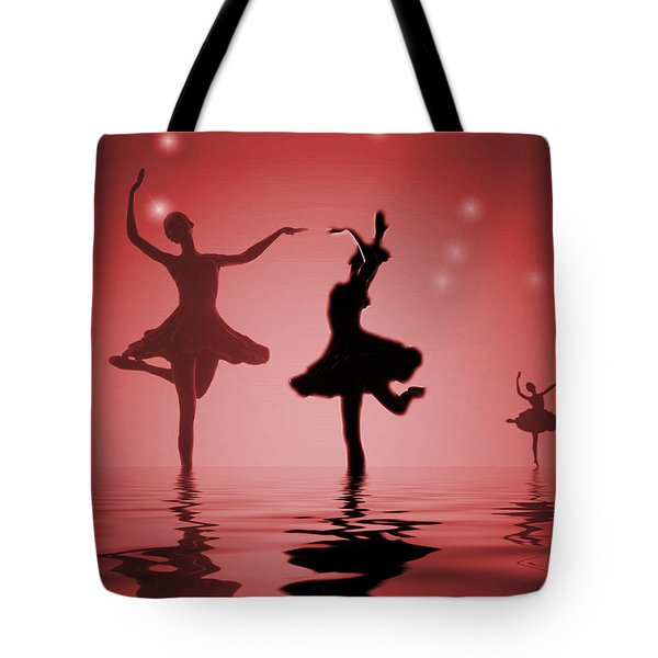 Tranquil Persuasion In Red Tote Bag by Joyce Dickens