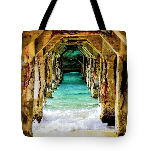 TRANQUILITY BELOW Tote Bag by KAREN WILES