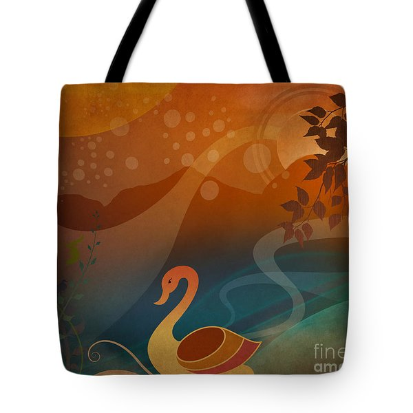 Tranquility Sunset Tote Bag by Bedros Awak
