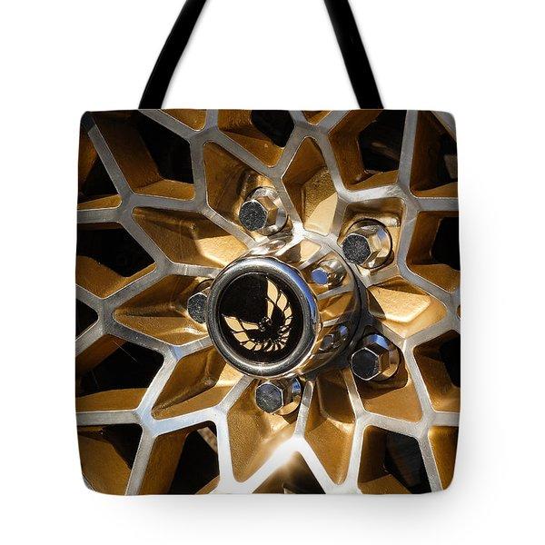 Trans-Am Snowflake Wheel Tote Bag by Gordon Dean II