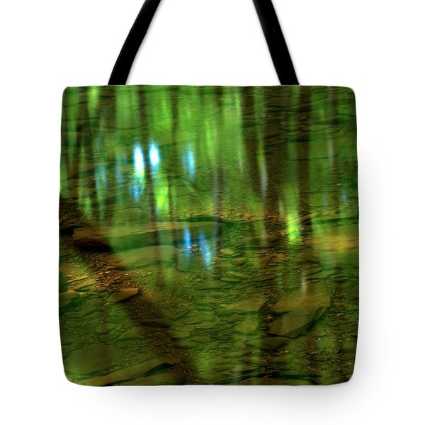 Translucent Forest Reflections Tote Bag by Adam Jewell