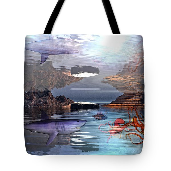 Translucent Interactions Tote Bag by Betsy A  Cutler