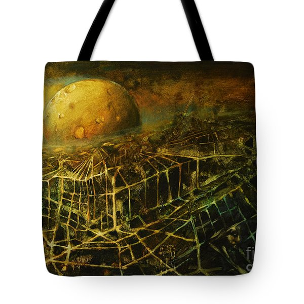 Trapped By The Moon Tote Bag by Michal Kwarciak