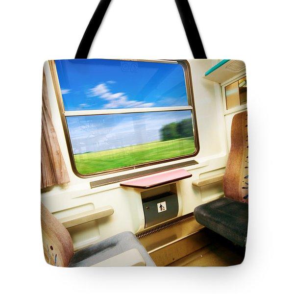 Travel In Comfortable Train. Tote Bag by Michal Bednarek