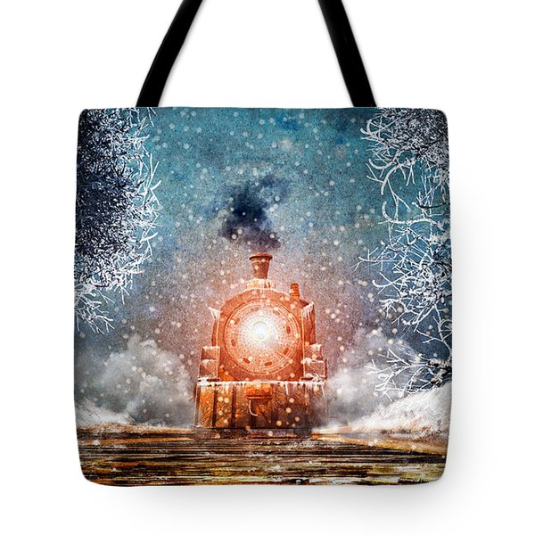 Traveling On Winters Night Tote Bag by Bob Orsillo