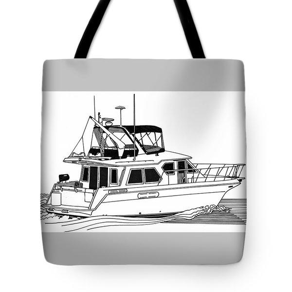 Trawler Yacht Tote Bag by Jack Pumphrey