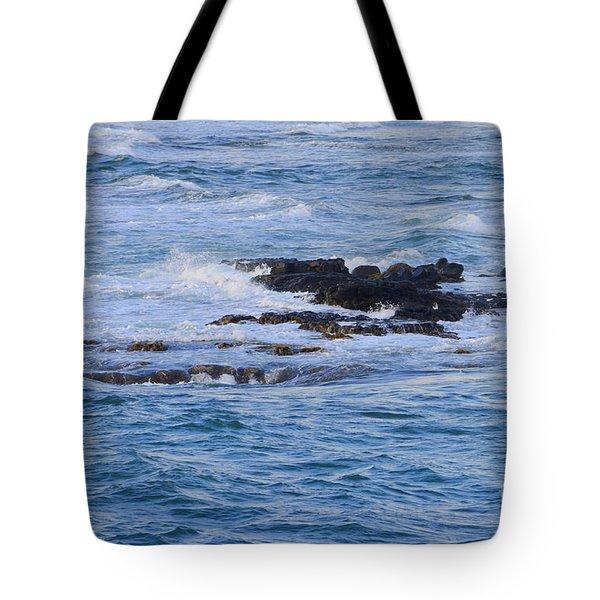 Treacherous Shorebreak Tote Bag by Mary Deal