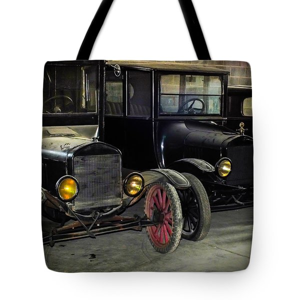 Treads Of Time Tote Bag by Karen Wiles