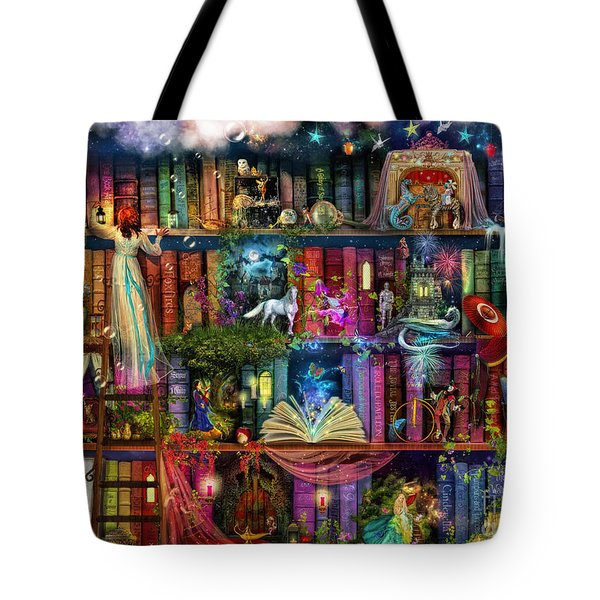 Fairytale Treasure Hunt Book Shelf Tote Bag by Aimee Stewart