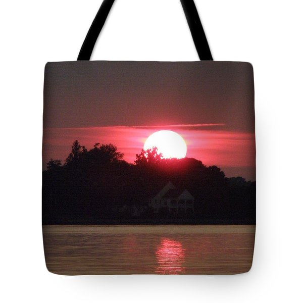Tred Avon Sunset Tote Bag by Lainie Wrightson