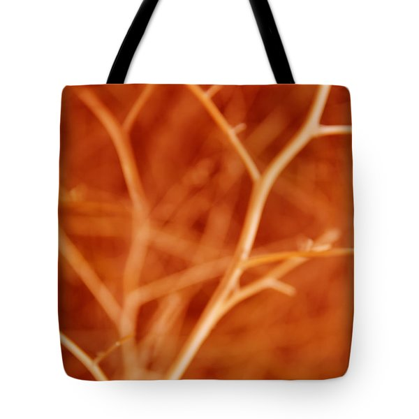 Tree Branches Abstract Orange Tote Bag by Jennie Marie Schell