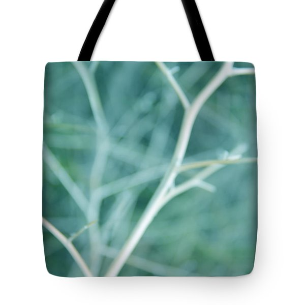 Tree Branches Abstract Turquoise Tote Bag by Jennie Marie Schell
