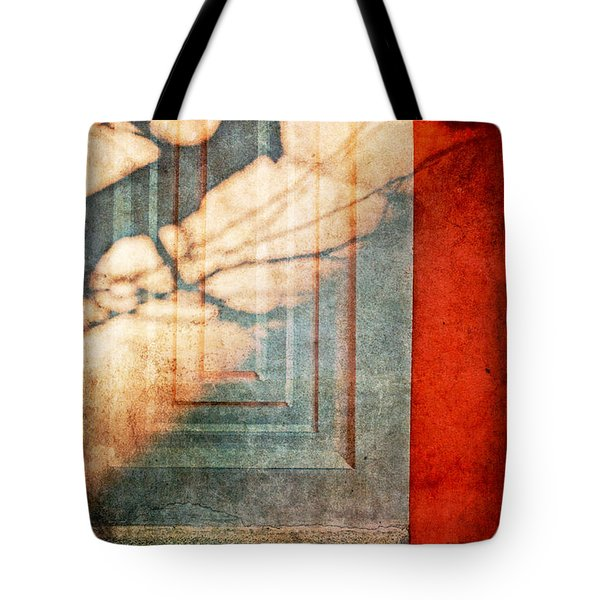 Tree Branches Shadow On Wall Tote Bag by Silvia Ganora
