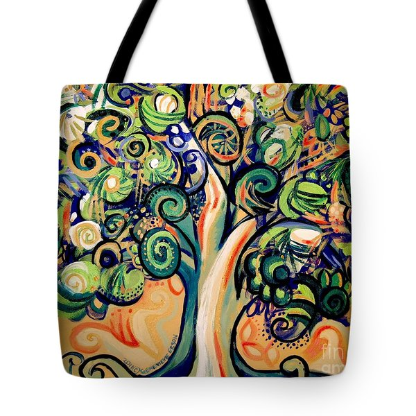 Tree Candy 2 Tote Bag by Genevieve Esson