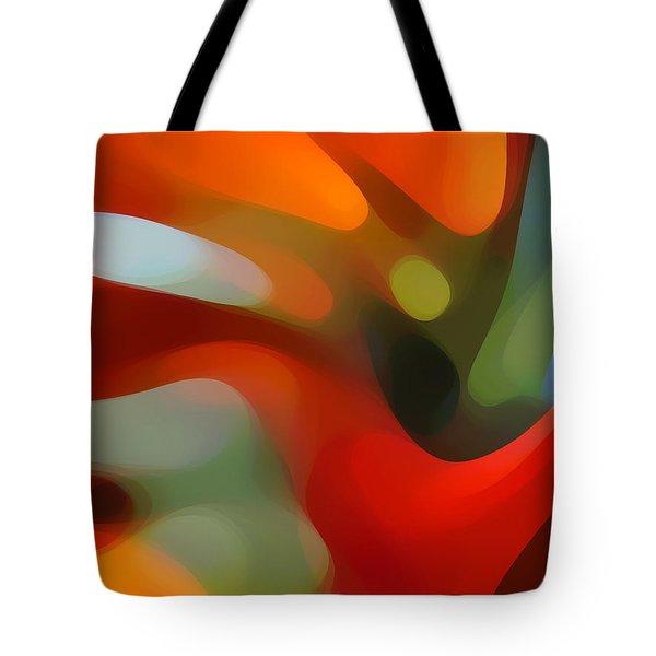 Tree Light 4 Tote Bag by Amy Vangsgard