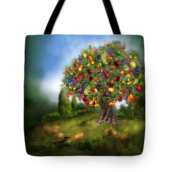 Tree Of Abundance Tote Bag by Carol Cavalaris