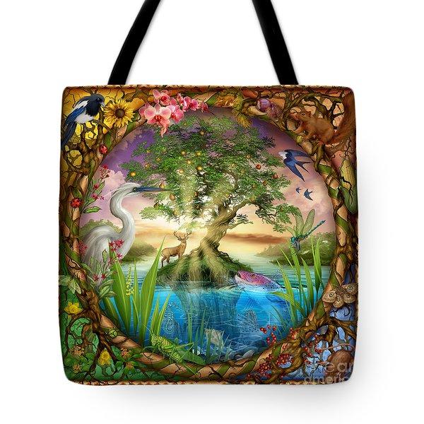 Tree Of Life Tote Bag by Ciro Marchetti