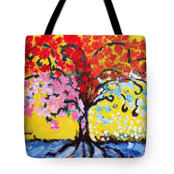 Tree Of Life Tote Bag by Ramona Matei