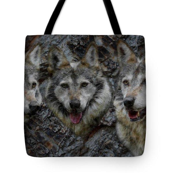 Tree Of Wolves Tote Bag by Ernie Echols