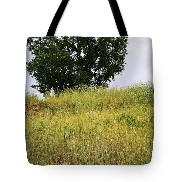Tree On A Hill Tote Bag by Sarah Holenstein
