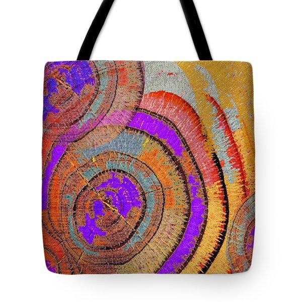 Tree Ring Abstract Tote Bag by Tony Rubino