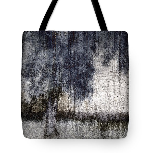 Tree Through Sheer Curtains Tote Bag by Carol Leigh