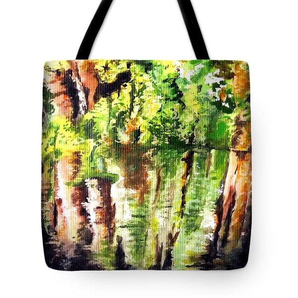 Trees Tote Bag by Daniel Janda