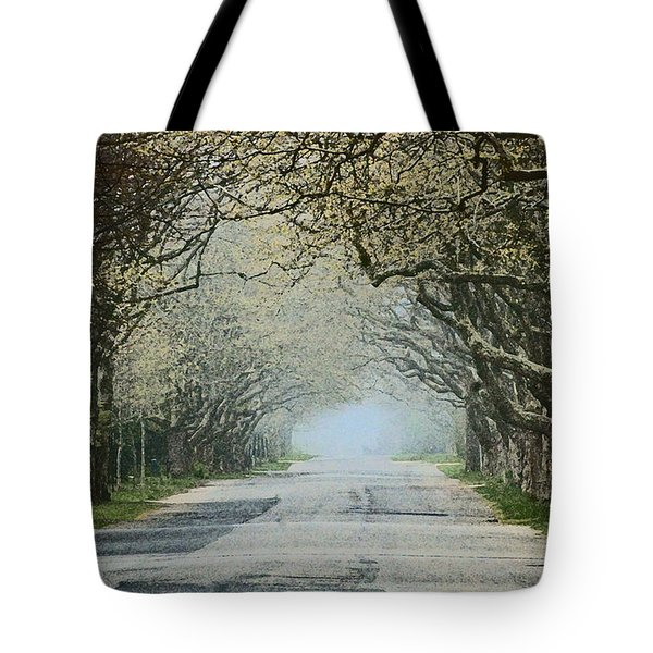 Trees Serenity Path Tote Bag by ArtyZen Studios