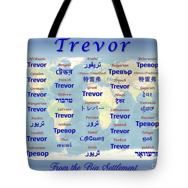 Trevor Tote Bag by J McCombie