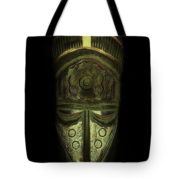 Tribal Mask  Tote Bag by David Dehner