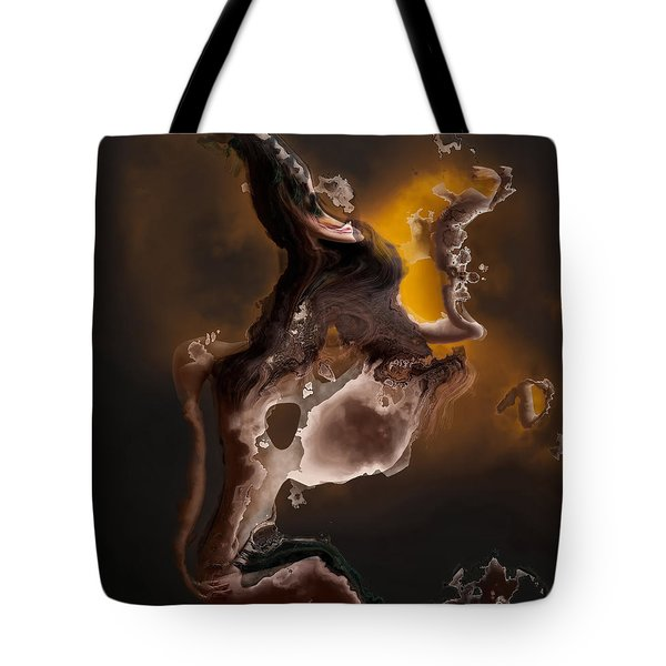 Tribal The Fire Within Tote Bag by Liane Wright