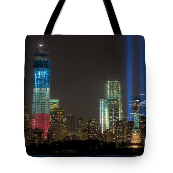 Tribute in Light XIII Tote Bag by Clarence Holmes