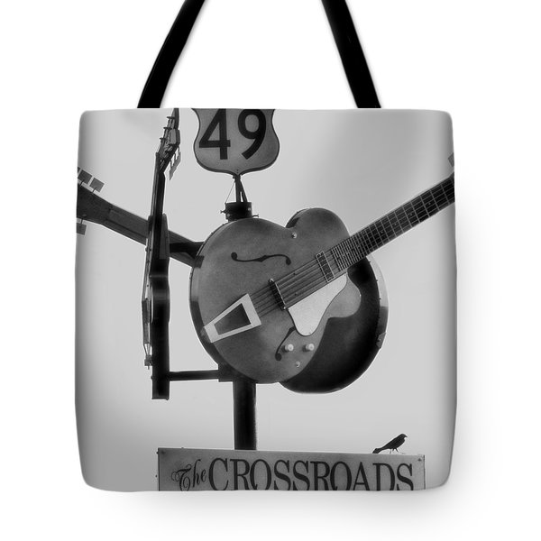 Tribute To The Blues At The Crossroads Tote Bag by Dan Sproul