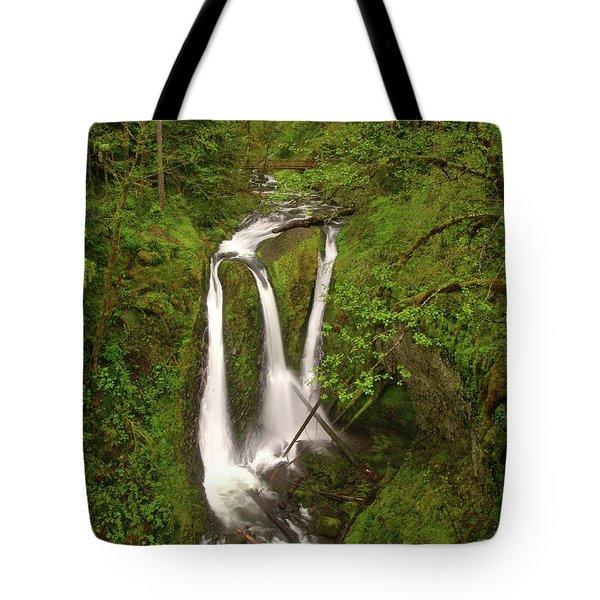 Triple Falls  Tote Bag by Jeff Swan