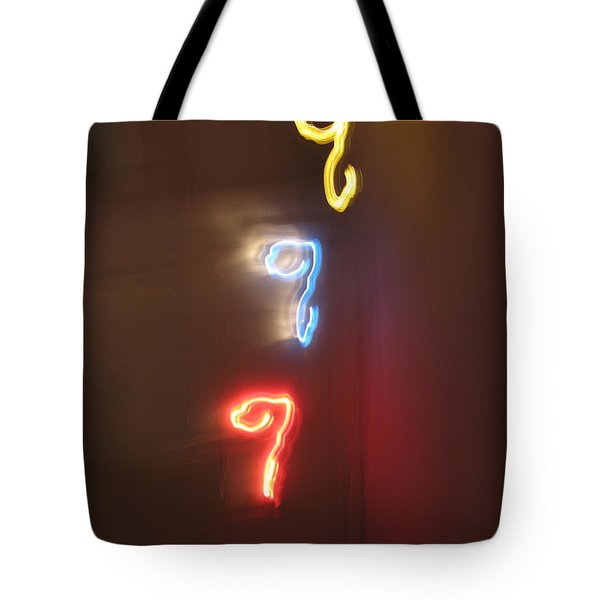 Triple Q. Dancing Lights Series Tote Bag by Ausra Huntington nee Paulauskaite