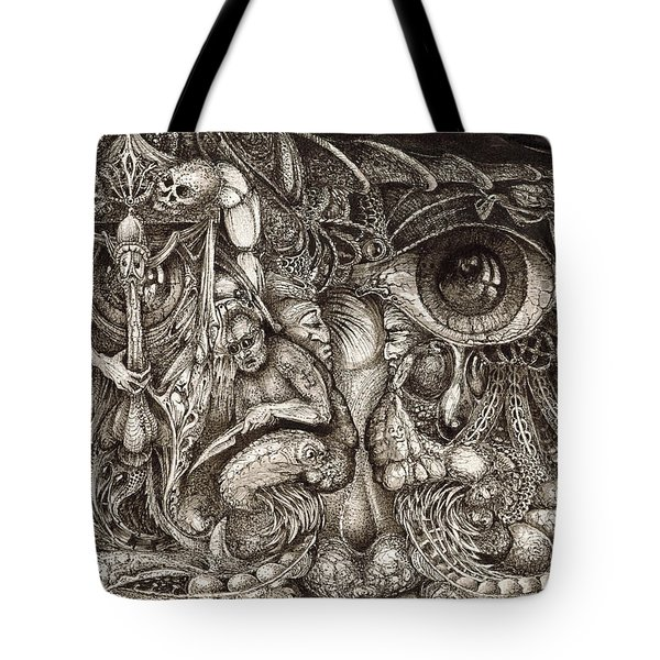 TRIPPING THROUGH BOGOMILS MIND Tote Bag by Otto Rapp