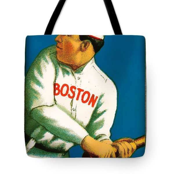Tris Speaker Boston Red Sox Baseball Card 0520 Tote Bag by Wingsdomain Art and Photography