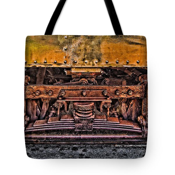 Trolley Train Details Tote Bag by Susan Candelario