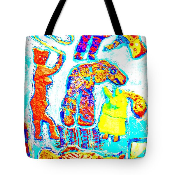 trolls family Tote Bag by Else Margrethe Widerberg