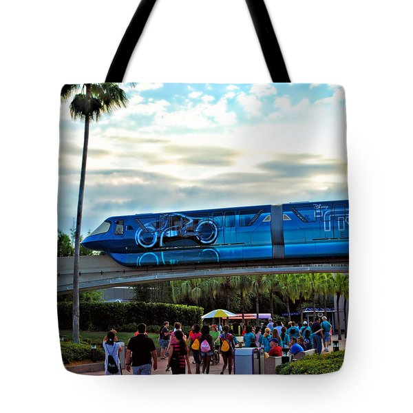 Tron Monorail At Walt Disney World Tote Bag by Thomas Woolworth