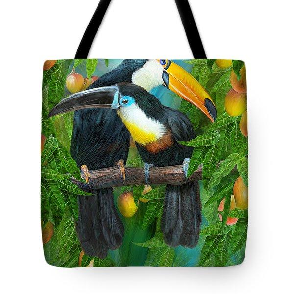 Tropic Spirits - Toucans Tote Bag by Carol Cavalaris