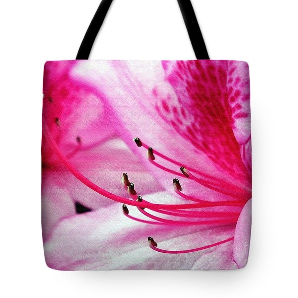Tropical Azalea Tote Bag by Kaye Menner
