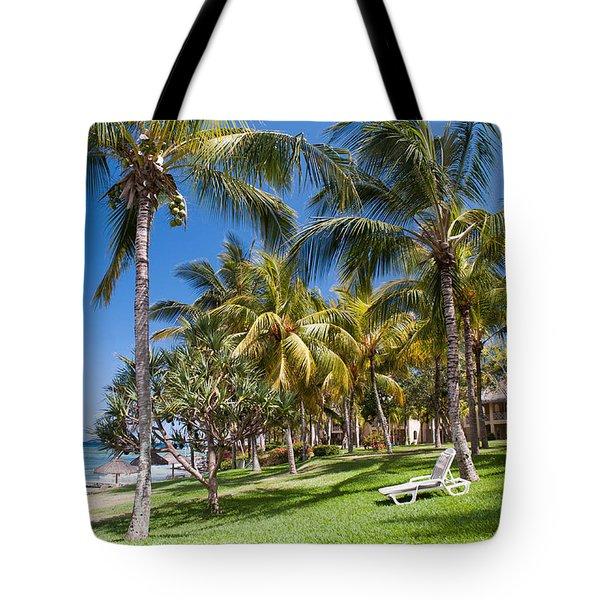 Tropical Beach I. Mauritius Tote Bag by Jenny Rainbow