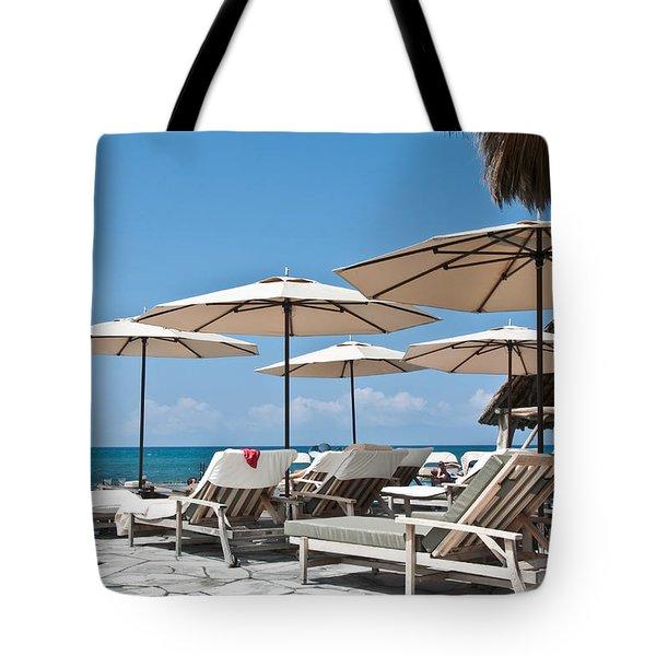 Tropical Beach Luxury Paradise Tote Bag by Valerie Garner